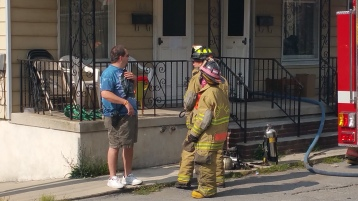 House Fire, Smoke, West Water Street, Lansford, 9-1-2015 (24)