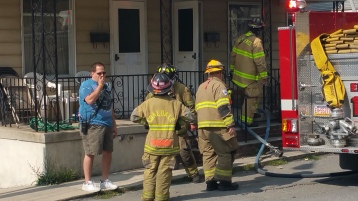 House Fire, Smoke, West Water Street, Lansford, 9-1-2015 (28)