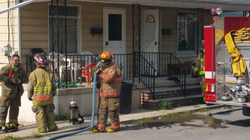 House Fire, Smoke, West Water Street, Lansford, 9-1-2015 (31)