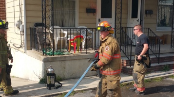 House Fire, Smoke, West Water Street, Lansford, 9-1-2015 (41)