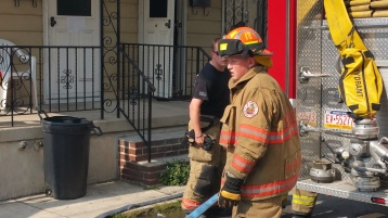 House Fire, Smoke, West Water Street, Lansford, 9-1-2015 (42)