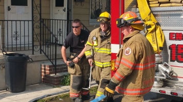House Fire, Smoke, West Water Street, Lansford, 9-1-2015 (43)