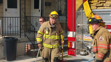 House Fire, Smoke, West Water Street, Lansford, 9-1-2015 (44)