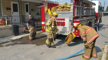 House Fire, Smoke, West Water Street, Lansford, 9-1-2015 (46)