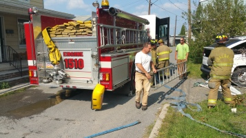 House Fire, Smoke, West Water Street, Lansford, 9-1-2015 (47)