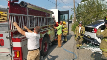 House Fire, Smoke, West Water Street, Lansford, 9-1-2015 (50)