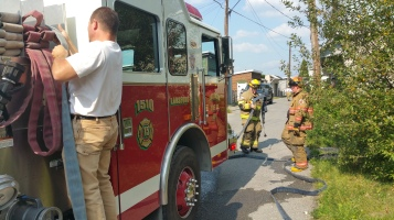 House Fire, Smoke, West Water Street, Lansford, 9-1-2015 (57)