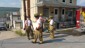 House Fire, Smoke, West Water Street, Lansford, 9-1-2015 (66)