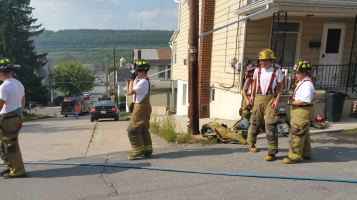 House Fire, Smoke, West Water Street, Lansford, 9-1-2015 (67)