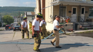 House Fire, Smoke, West Water Street, Lansford, 9-1-2015 (69)