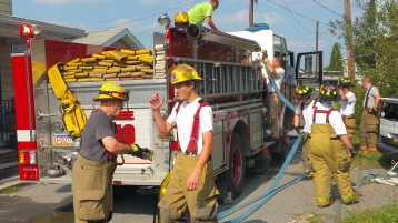 House Fire, Smoke, West Water Street, Lansford, 9-1-2015 (72)