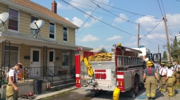 House Fire, Smoke, West Water Street, Lansford, 9-1-2015 (73)