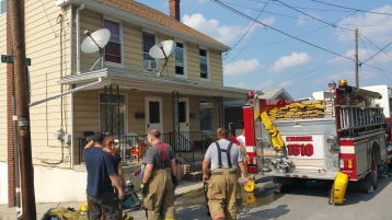 House Fire, Smoke, West Water Street, Lansford, 9-1-2015 (88)