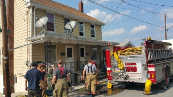 House Fire, Smoke, West Water Street, Lansford, 9-1-2015 (89)