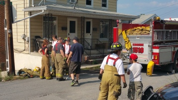 House Fire, Smoke, West Water Street, Lansford, 9-1-2015 (90)