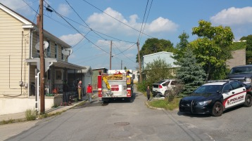 House Fire, Smoke, West Water Street, Lansford, 9-1-2015 (96)