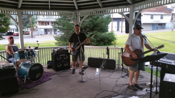 Music in the Park, Rodney Clouser Band, Kennedy Park, Lansford, 8-30-2015 (1)