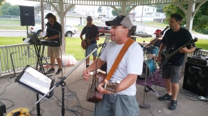 Music in the Park, Rodney Clouser Band, Kennedy Park, Lansford, 8-30-2015 (14)