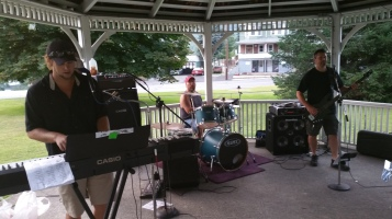 Music in the Park, Rodney Clouser Band, Kennedy Park, Lansford, 8-30-2015 (2)