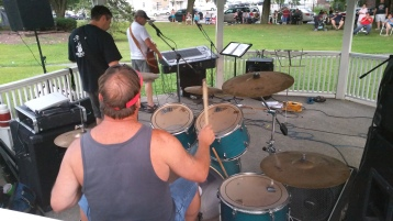 Music in the Park, Rodney Clouser Band, Kennedy Park, Lansford, 8-30-2015 (32)