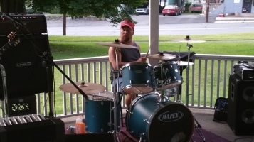 Music in the Park, Rodney Clouser Band, Kennedy Park, Lansford, 8-30-2015 (6)