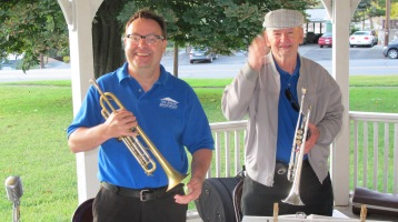 Music in the Park, Tin Roof Brass Band performs, Kennedy Park, Lansford, 9-13-2015 (3)