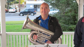 Music in the Park, Tin Roof Brass Band performs, Kennedy Park, Lansford, 9-13-2015 (4)
