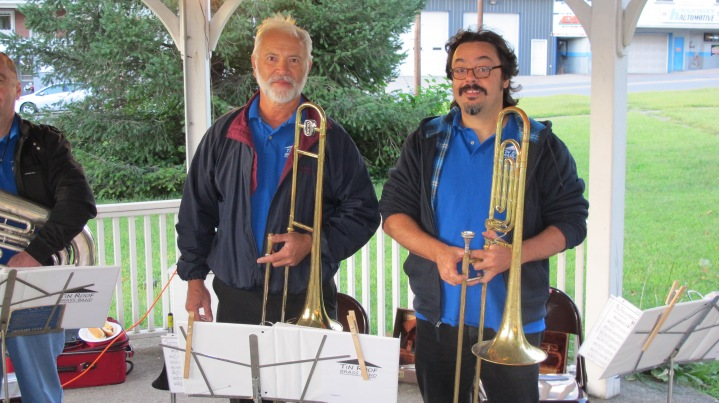 Music in the Park, Tin Roof Brass Band performs, Kennedy Park, Lansford, 9-13-2015 (5)