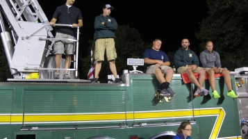 Sept. 11 Remembrance, Flag, Firefighters, Panther Valley Stadium, Lansford, 9-11-2015 (18)