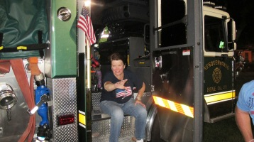 Sept. 11 Remembrance, Flag, Firefighters, Panther Valley Stadium, Lansford, 9-11-2015 (26)