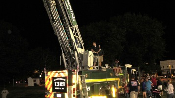 Sept. 11 Remembrance, Flag, Firefighters, Panther Valley Stadium, Lansford, 9-11-2015 (28)