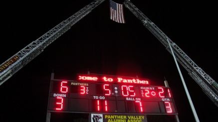 Sept. 11 Remembrance, Flag, Firefighters, Panther Valley Stadium, Lansford, 9-11-2015 (31)