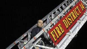 Sept. 11 Remembrance, Flag, Firefighters, Panther Valley Stadium, Lansford, 9-11-2015 (42)