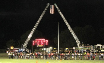 Sept. 11 Remembrance, Flag, Firefighters, Panther Valley Stadium, Lansford, 9-11-2015 (7)