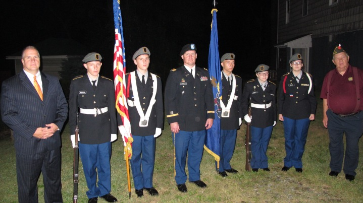 Sept. 11 Remembrance, Memorial Service, Coaldale VFW Post, Coaldale, 9-11-2015 (27)