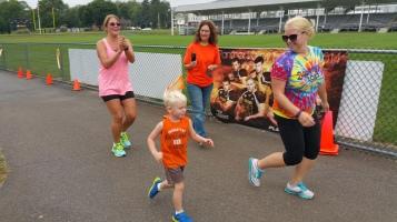 St. Luke's Cares For Kids 5K, Kids Fun Run, PV Football Field, Lansford, (279)