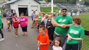 St. Luke's Cares For Kids 5K, Kids Fun Run, PV Football Field, Lansford, (314)