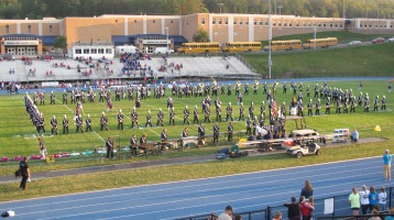 Tamaqua Area Raider Marching Band, TASD Sports Stadium, Tamaqua, 9-18-2015 (1)