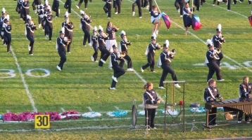 Tamaqua Area Raider Marching Band, TASD Sports Stadium, Tamaqua, 9-18-2015 (13)