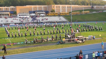 Tamaqua Area Raider Marching Band, TASD Sports Stadium, Tamaqua, 9-18-2015 (2)