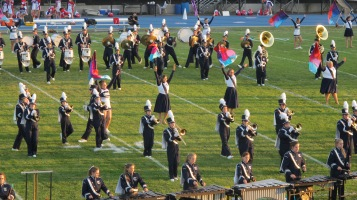 Tamaqua Area Raider Marching Band, TASD Sports Stadium, Tamaqua, 9-18-2015 (20)