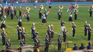 Tamaqua Area Raider Marching Band, TASD Sports Stadium, Tamaqua, 9-18-2015 (21)