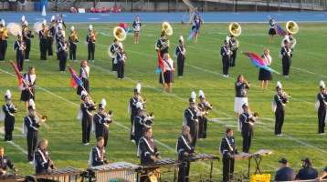 Tamaqua Area Raider Marching Band, TASD Sports Stadium, Tamaqua, 9-18-2015 (23)