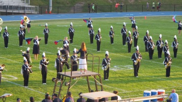 Tamaqua Area Raider Marching Band, TASD Sports Stadium, Tamaqua, 9-18-2015 (26)