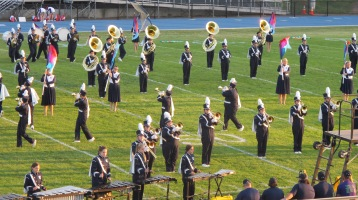 Tamaqua Area Raider Marching Band, TASD Sports Stadium, Tamaqua, 9-18-2015 (27)
