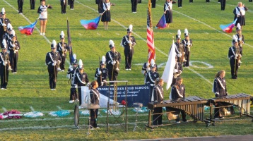 Tamaqua Area Raider Marching Band, TASD Sports Stadium, Tamaqua, 9-18-2015 (3)