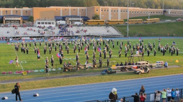 Tamaqua Area Raider Marching Band, TASD Sports Stadium, Tamaqua, 9-18-2015 (37)