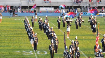 Tamaqua Area Raider Marching Band, TASD Sports Stadium, Tamaqua, 9-18-2015 (4)