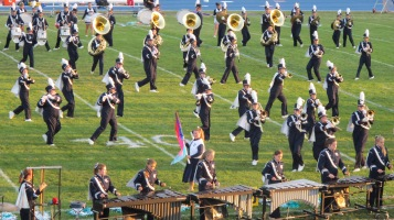 Tamaqua Area Raider Marching Band, TASD Sports Stadium, Tamaqua, 9-18-2015 (44)