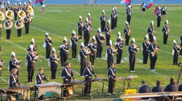 Tamaqua Area Raider Marching Band, TASD Sports Stadium, Tamaqua, 9-18-2015 (45)